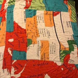 Madewell silk/wool/cashmere mapmaker scarf
